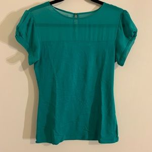 Green-blue blouse- EXPRESS NWOT